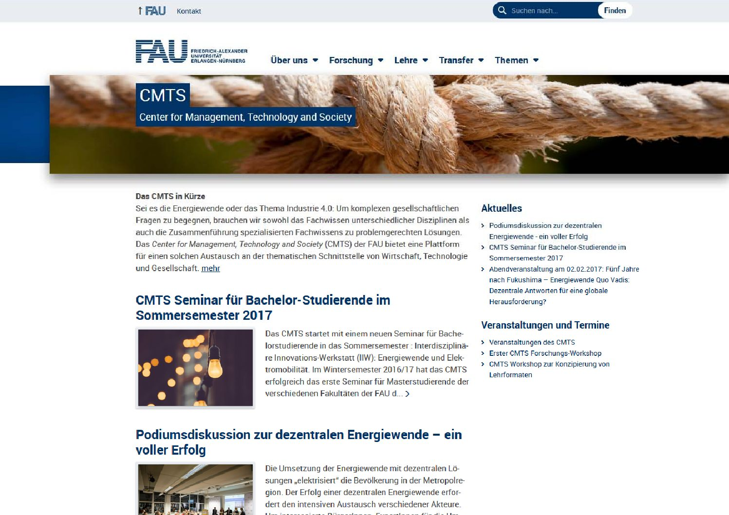 "Zum Artikel ""Center for Management, Technology and Society"""